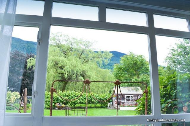pretty backyard mountain view