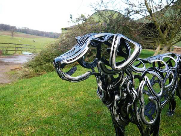 Justacargal Horseshoe Art By Tom Hill