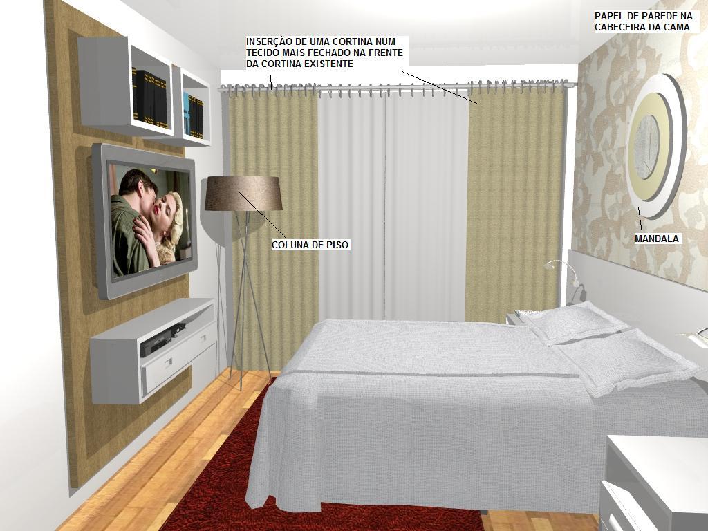 quarto de casal decorado
