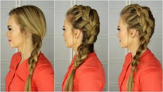 Yandan Toplamalı Saç Örgüsü Modeli, Saç Örgü Modelleri, Resimli Anlatımlı, Saç Örgüsü Modelleri, Saç Örgüleri Ve Yapılışları, Arkadan Bağlamalı, Kullanılan Saç Örme Teknikleri, kadin, Balık Kılçığı, Şelale Saç,