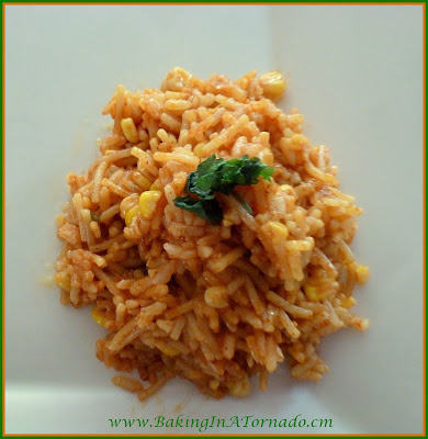 Taco Rice, an easy, flavorful side dish | recipe developed by www.BakingInATornado.com | #recipe #rice