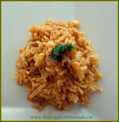 Taco Rice, an easy, flavorful side dish | recipe developed by www.BakingInATornado.com | #recipe #rice