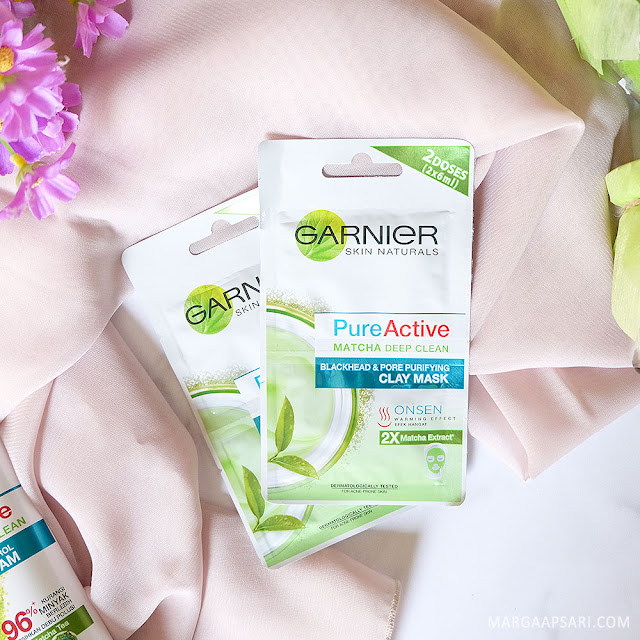 Review Garnier Pure Active Matcha Deep Clean Clay Mask
