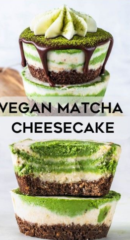 Vegan Matcha Cheesecake Recipe