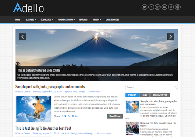 Adello Blogger Template