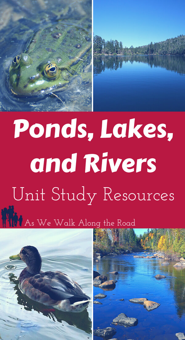 Ponds, lakes, and rivers unit study resources