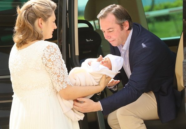 First photos of Prince Charles and his parents Hereditary Grand Duke Guillaume and Hereditary Grand Duchess Stéphanie