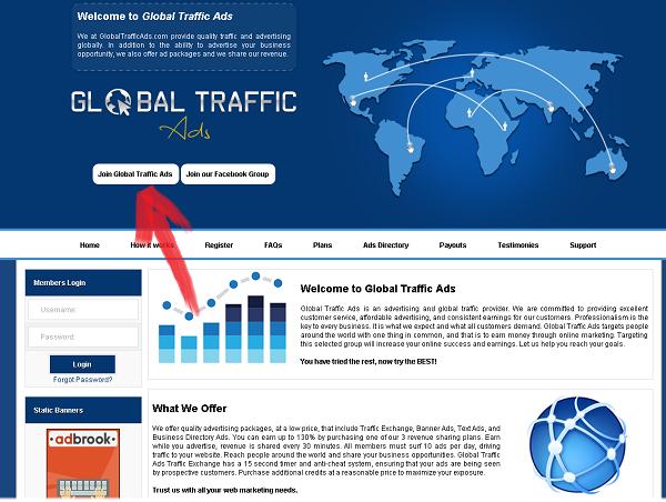 شرح موقع globaltrafficads حصريا كيفية مضاعفة الارباح الاستثمار استراتيجية العمل