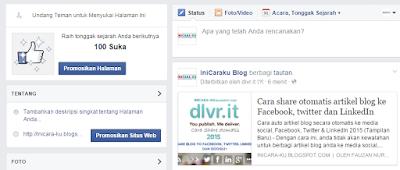 Cara Share otomatis blog to facebook oleh dlvr.it