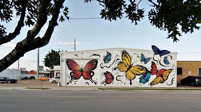 Butterfly Mural in EaDo District