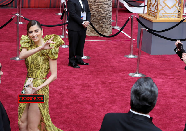 Atriz é traída pelo vestido e acaba por mostrar demais nos Oscars 2017