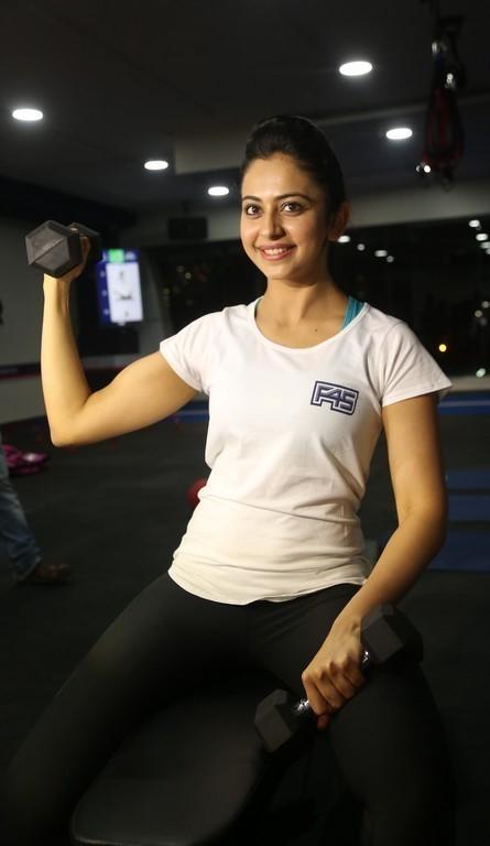 Rakul Preet Singh In White Gym Dress