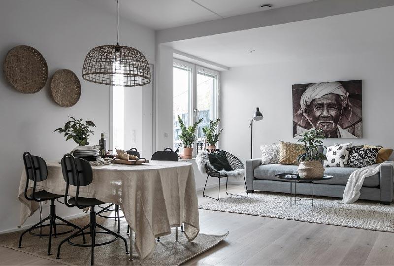 Arredare casa in stile nordico con un tocco etnico for Armadio stile nordico