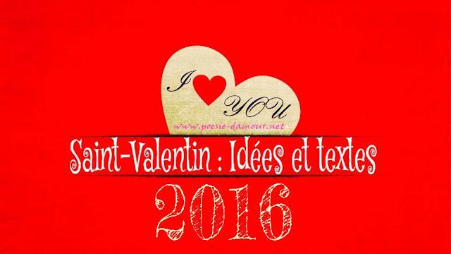 Jolie carte de vœux pour la fête de la Saint-Valentin 2016
