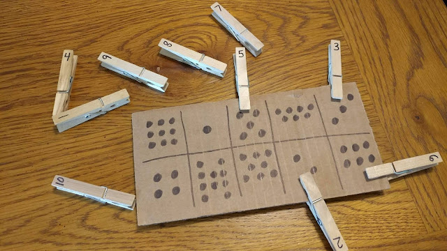 Clothespin letter and number matching