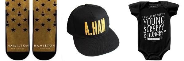 Hamilton musical skarpetki czapki