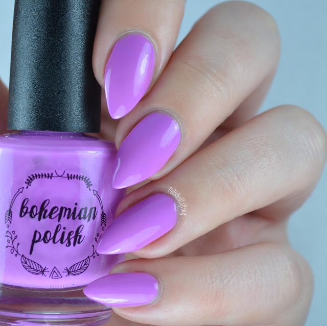 purple neon nail polish