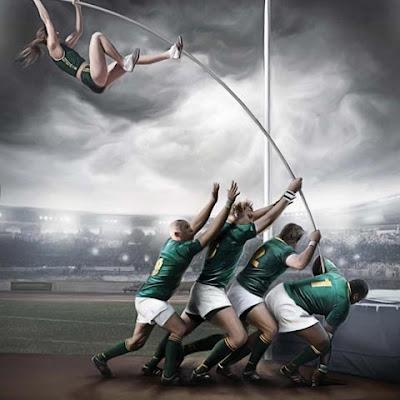 fotomontaje atletas