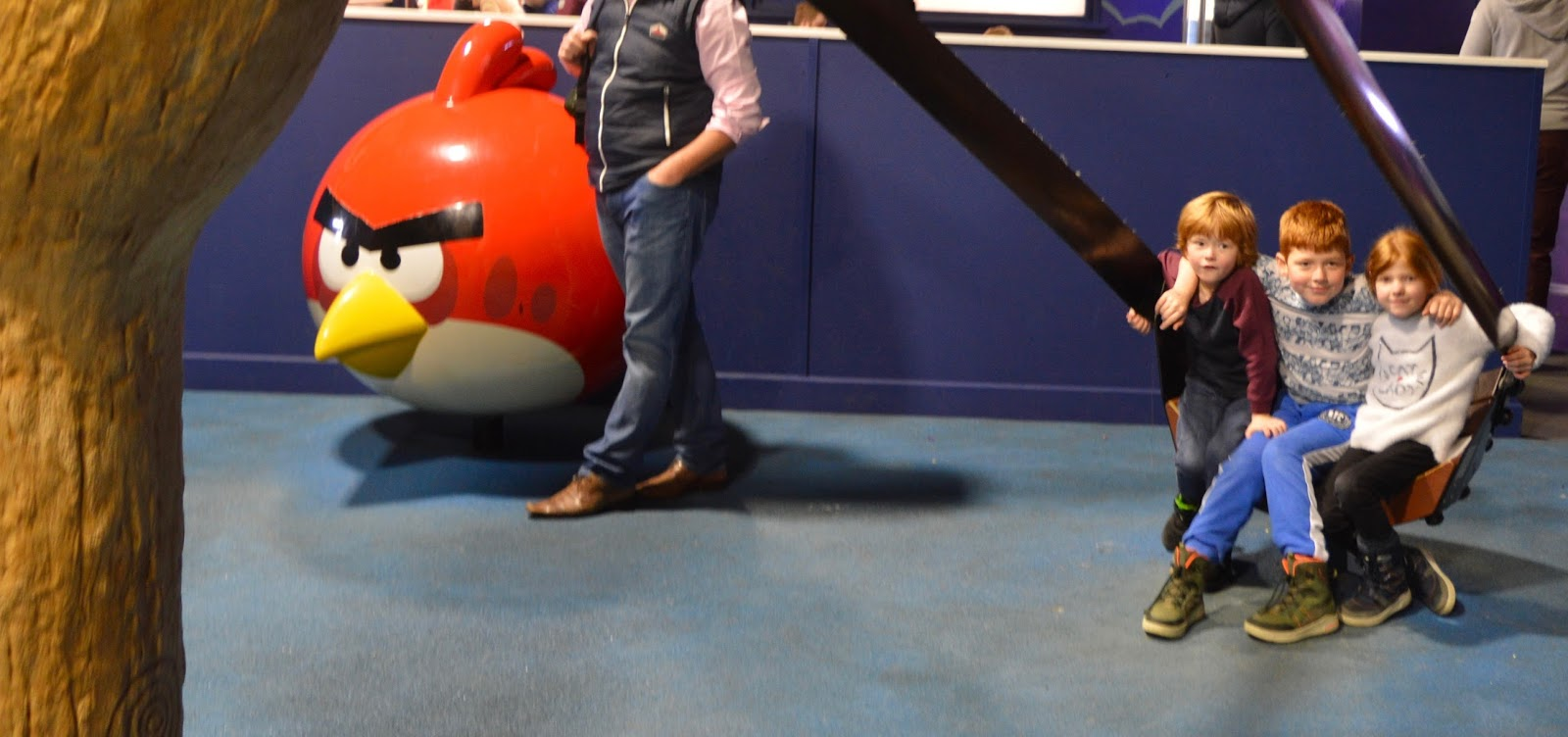 Visiting Angry Birds Activity Park at Lightwater Valley, North Yorkshire - indoor space themed play area
