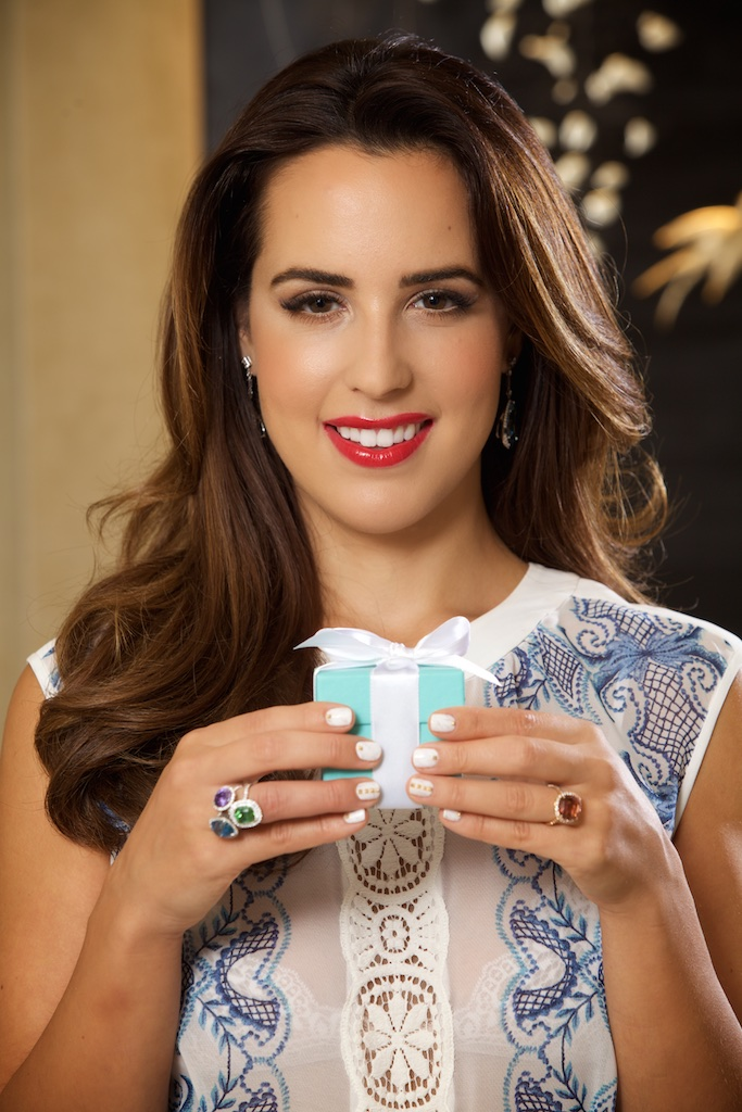 Fashion Blogger Kelly Saks in Tiffany & Co. Colored Diamond rings