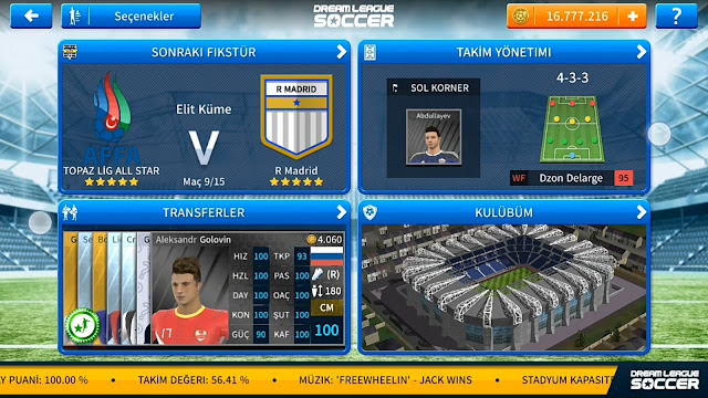Dream League Soccer 2019 Topaz Ligi Yaması