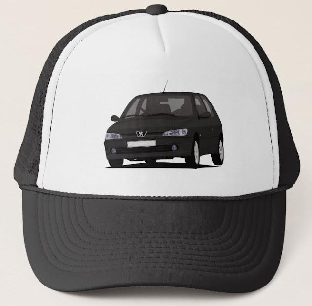 Black Peugeot 306 GTi-6 cap