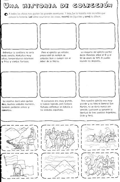 Actividades para colorear de San Martín