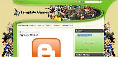 Template Para Blog De Games