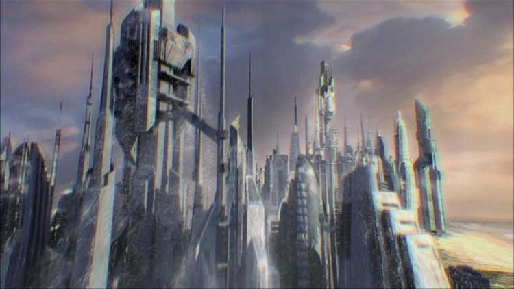 The city rises in the premiere of Stargate Atlantis.