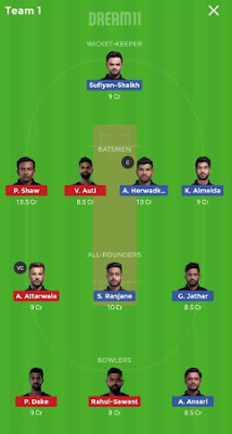 AA vs NMP dream 11 team