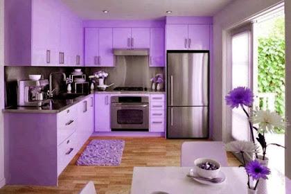 39 Desain Dapur Warna Ungu Yang Indah dan Modern