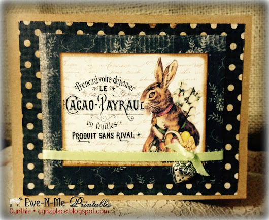 French Country Bunny Card