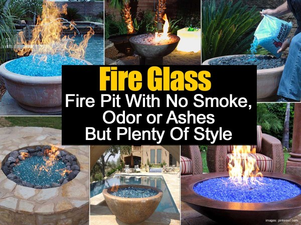 Broken Glass Fire Pit : Fire glass no smoke odor or ashes and plenty of style