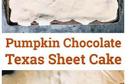 PUMPKIN CHOCOLATE TEXAS SHEET CAKE RECIPE
