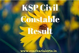 KSP Civil Constable Result 2017