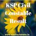 KSP Civil Constable Result 2017 | KSP Police Constable Merit List