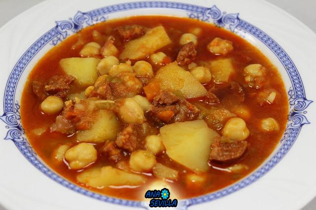 Potaje de garbanzos y patatas
