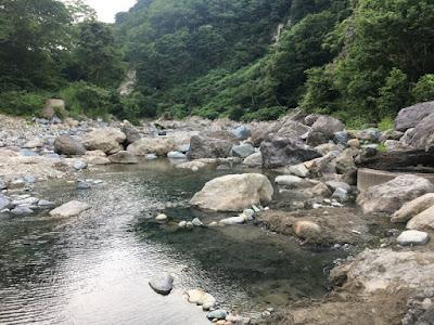 河原の湯 露天風呂の跡