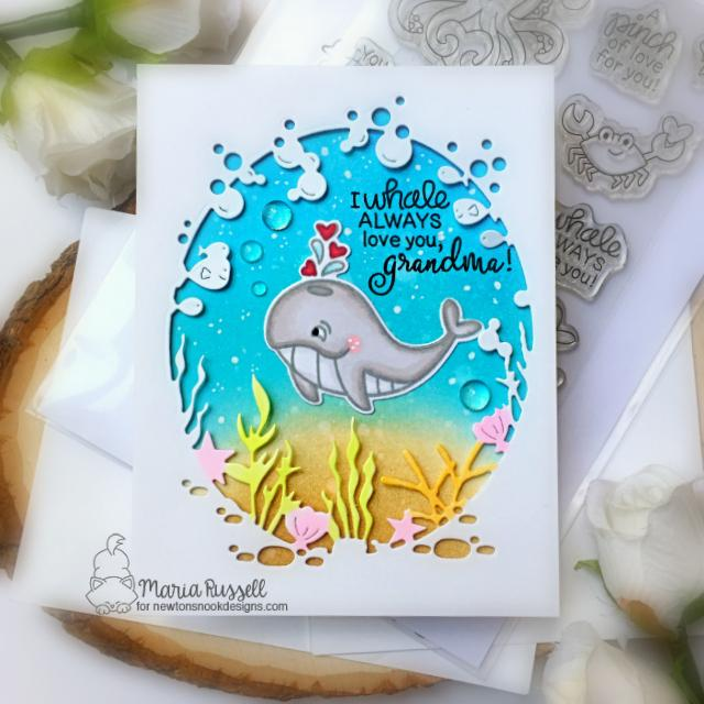 Sea Themed Mother's Day Card Duo by Maria Russell | Tides of Love Stamp Set and Lovely Blooms Stamp Set by Newton's Nook Designs #newtonsnook #handmade