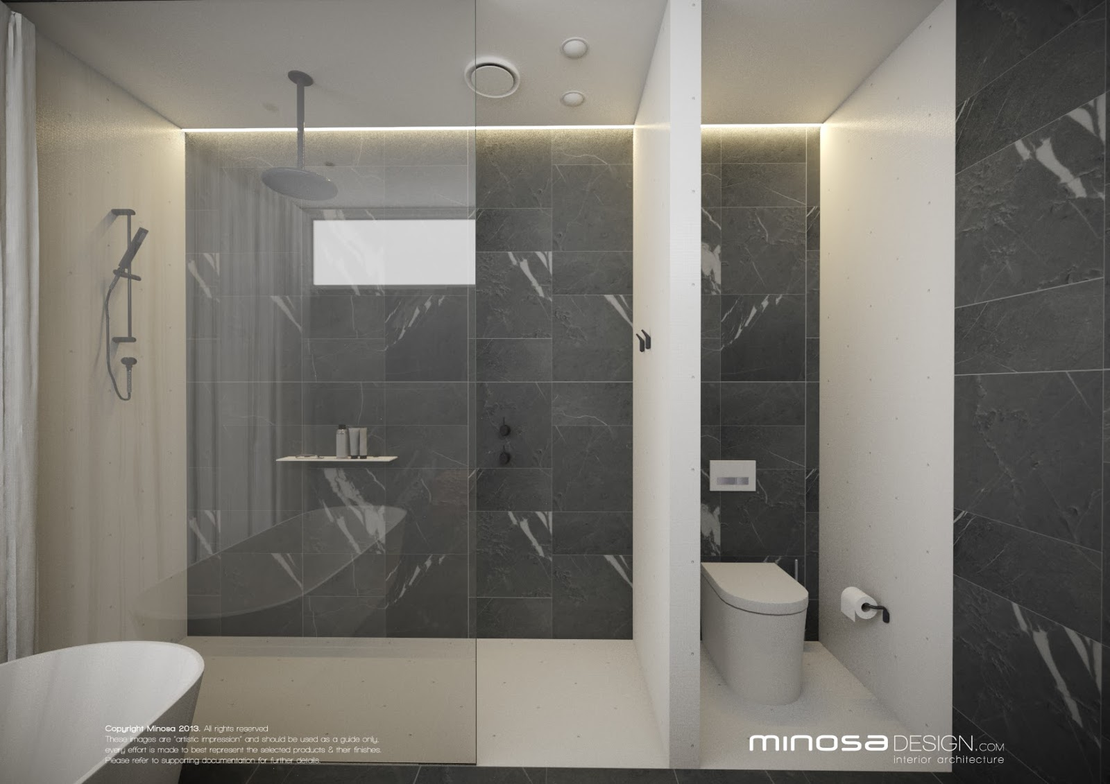 Minosa modern bathroom design to share for New style bathroom designs
