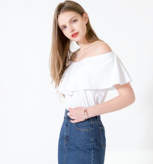 Frilled Off Shoulder Top