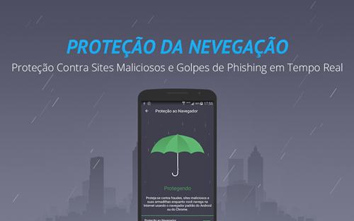 Proteção contra sites falsos e ataques por navegação na Internet. AMC Security - Antivírus e limpeza Android