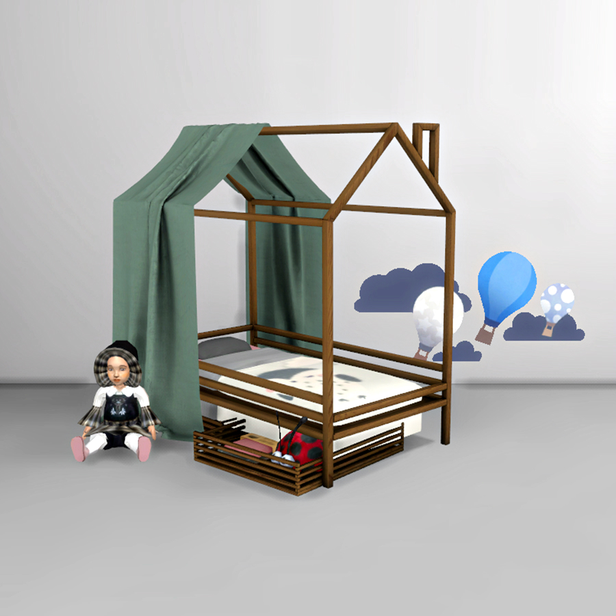 Sims 4 cc 39 s the best toddler bed and canopy by leo sims for Bed 3