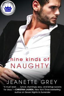 romance novel covers, contemporary erotica, royal pick, Nine Kinds of Naughty by Jeanette Grey
