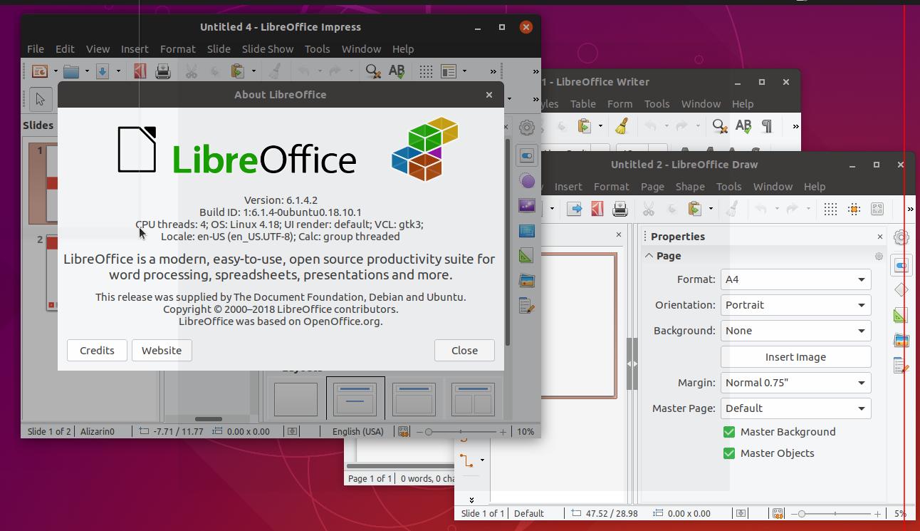 LibreOffice 6 2 1 Release, Install on Ubuntu / Debian