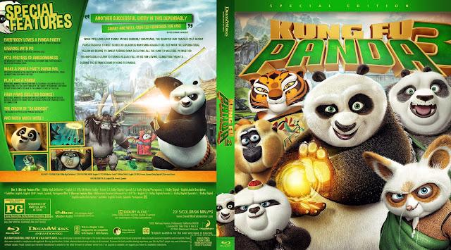 Kung Fu Panda 3 Bluray Cover