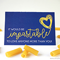 Pasta Love Card