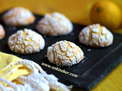 Limonlu Çatlak Kurabiye Tarifi nasıl yapılır en kolay nefis tatlı yemek tarifi ölçülü