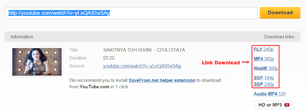 Download Video YouTube Mudah