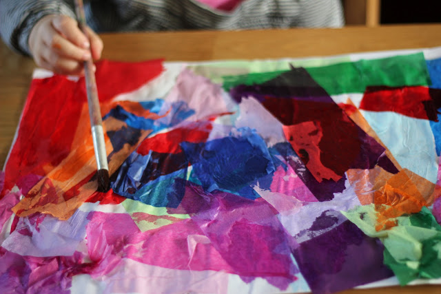 12 Art Activities Using Tissue Paper The Imagination Tree Tafhs Com